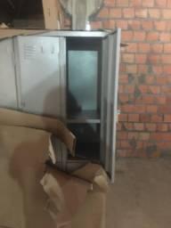 armário vestiário 6,8 portas c prateleiras internas