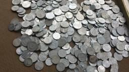 Lote moedas antigas de alumínio