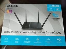Roteador potente Wifi D-Link Dir-825 Gigabit Dual Band 4 Antenas