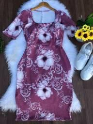 Vestido tubinho moda evangélica barato