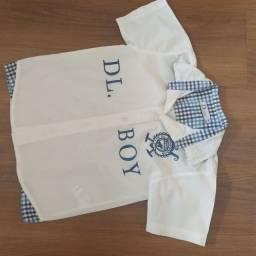 Kit 2 camisas infantil tamanho 4 pouco uso