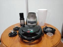 Liquidificador completo e mistura com defeito para retirada de peças