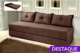 Sofá cama Multifuncional c3 almofadas - Catálogo completo via whats