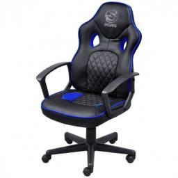 Cadeira Gamer Mad Racer STI Master - Preta e Azul - Pcyes   Lacrado com garantia