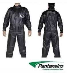 Pc Conjunto Capa De Chuva Motoqueiro PVC Pantaneiro Impermeável <br>