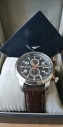 Relogio náutica original pulseira de couro