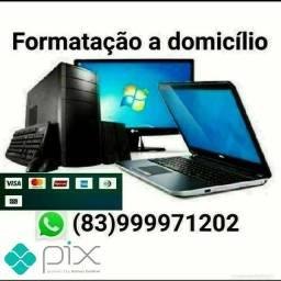 Formatação Notebook e PC a domicílio 50 reais