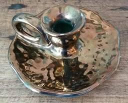 Castiçal em cerâmica