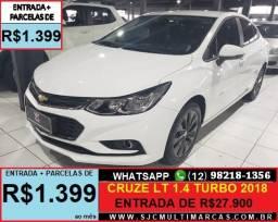 Cruze Sedan LT 1.4 Turbo Parcelas de R$1.399 ao mês - 2018