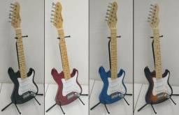 Guitarra Infantil Michael Gm219n Standard Junior Modelo Strato 3 captadores