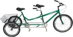 Triciclo Bike Tandem 2 Lugares + Cesto Só R$ 1950,00
