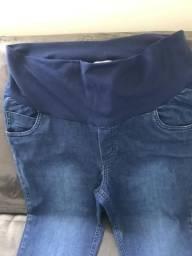 Calça gestante jeans