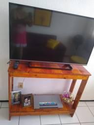 Rack para tv aparador barzinho em madeira rústica