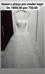 Vendo, troco, parcelo, Vestido noiva princesa