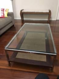 Mesa de centro em vidro 10mm