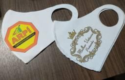 Kit 100 máscaras personalizadas , tecido neoprene