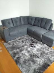 Promoção sofás c puff direto da fabrica