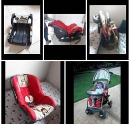 Vendo kit carrinho com BB conforto e base para carro