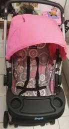 Vendo Carrinho de Bebê Burigotto AT6 K - Bike Rosa OBS: Baixei pra hoje!
