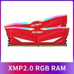 Memória RAM glowy rgb 3200mhz rgb 2x8