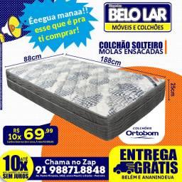 Colchão ortobom molas ensacadas solteiro R$699,99 .zap *