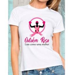 Camiseta Personalizada Outubro Rosa 2020