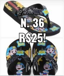 SANDÁLIA LUCAS NETO. N.36. R$25!