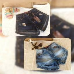Vendo Grade fechada com 95 peças de Calça Jeans e 122 peças de Short Jeans.