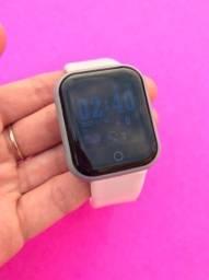 Relógio Smartwatch D20 Branco Versão 2021 Coloca Foto