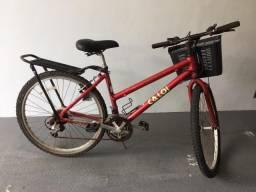Bicicleta Feminina de Alumínio Caloi - 18 Marchas - Câmbio Shimano