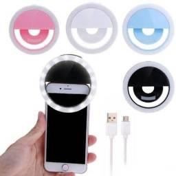 mini ring light Luz de Selfie Led Iluminador Para Celular Tablet Notebook Ring Light Flash