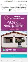 Vendo Casa em Gualdrapas Trairi 45.000
