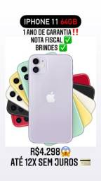 iPhone 11 64GB Lacrado - 12x SEM JUROS!