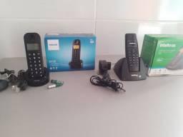Vendo dois telefones sem fio usados