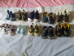 Lote de calçados de bebê masculino