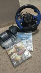 Controle rolantes com pedal pra PS2 e PS3