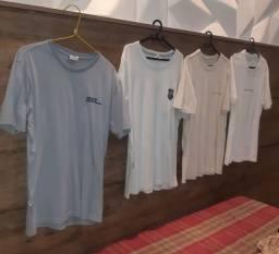 4 camisas mania do surf tamanho M original usadas 120 reais