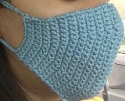 Máscaras de crochê forradas