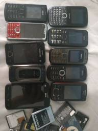 Lote 10 celulares (sucata)