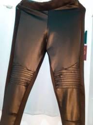 Calça preta estilo montaria