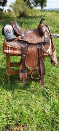 Sela entalhada assento macio laço