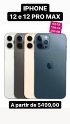 iPhone 12 12 pro Max 128 64 256 GB lacrado 1 ano garantia