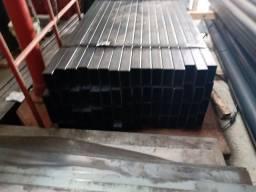 Tubo 80x40 na 2mm barra com 1,17m de comprimento R$35,00 a barra