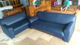Vendo jogo de sofá em couro
