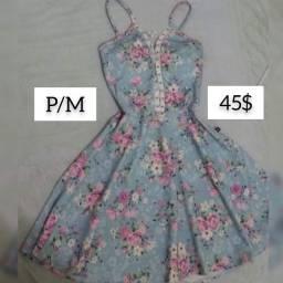 Venda/troca vestido azul claro