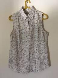 Blusa de Botão Branca - Banana Replubic