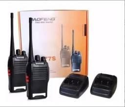 Kit Com 2 rádio Comunicador 777s Ht Uhf 16 Canais