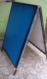 Placa toda de Metal_Grandona Dobrável_ 1,20 altura x0.90 comprimento. Para divulgação