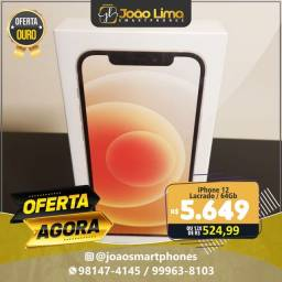 IPHONE 12, 64GB, BRANCO, NOVO, LACRADO