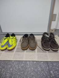 Vendo 3 calçados usados